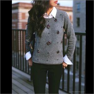 Ann Taylor LOFT embellished Pullover sweater.
